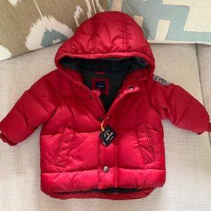 NWT BabyGAP red puffer coat 0-6m